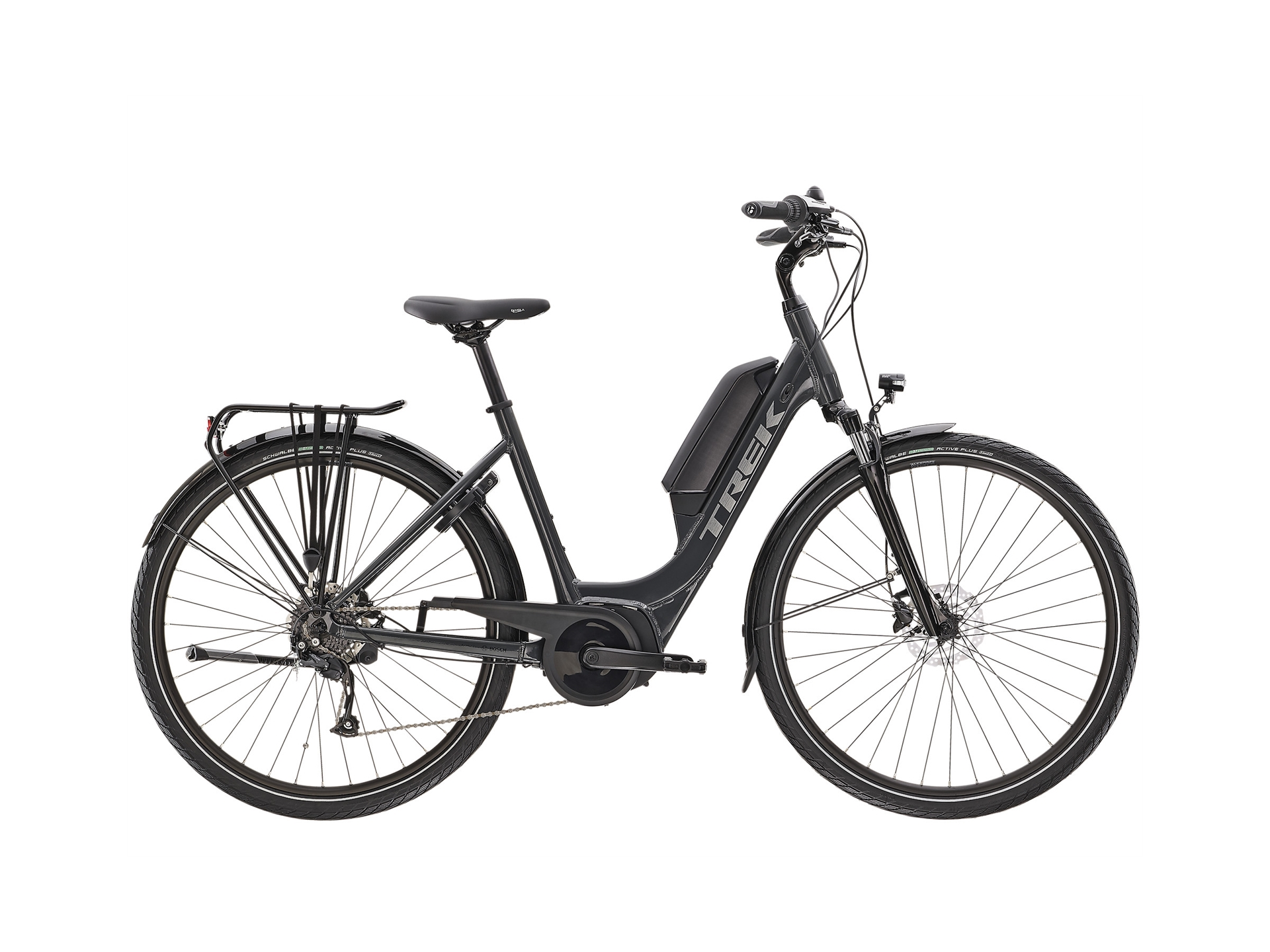 Trek Verve+ 1 Lowstep Dt Solid Charcoal S 300 Wh