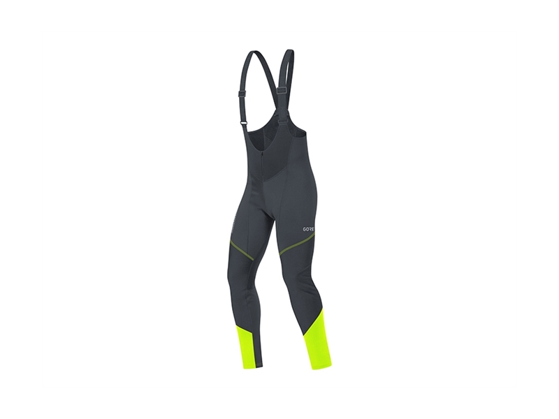 Gore C3 Gore Windstopper® Bib Tights Svart/Neongul L