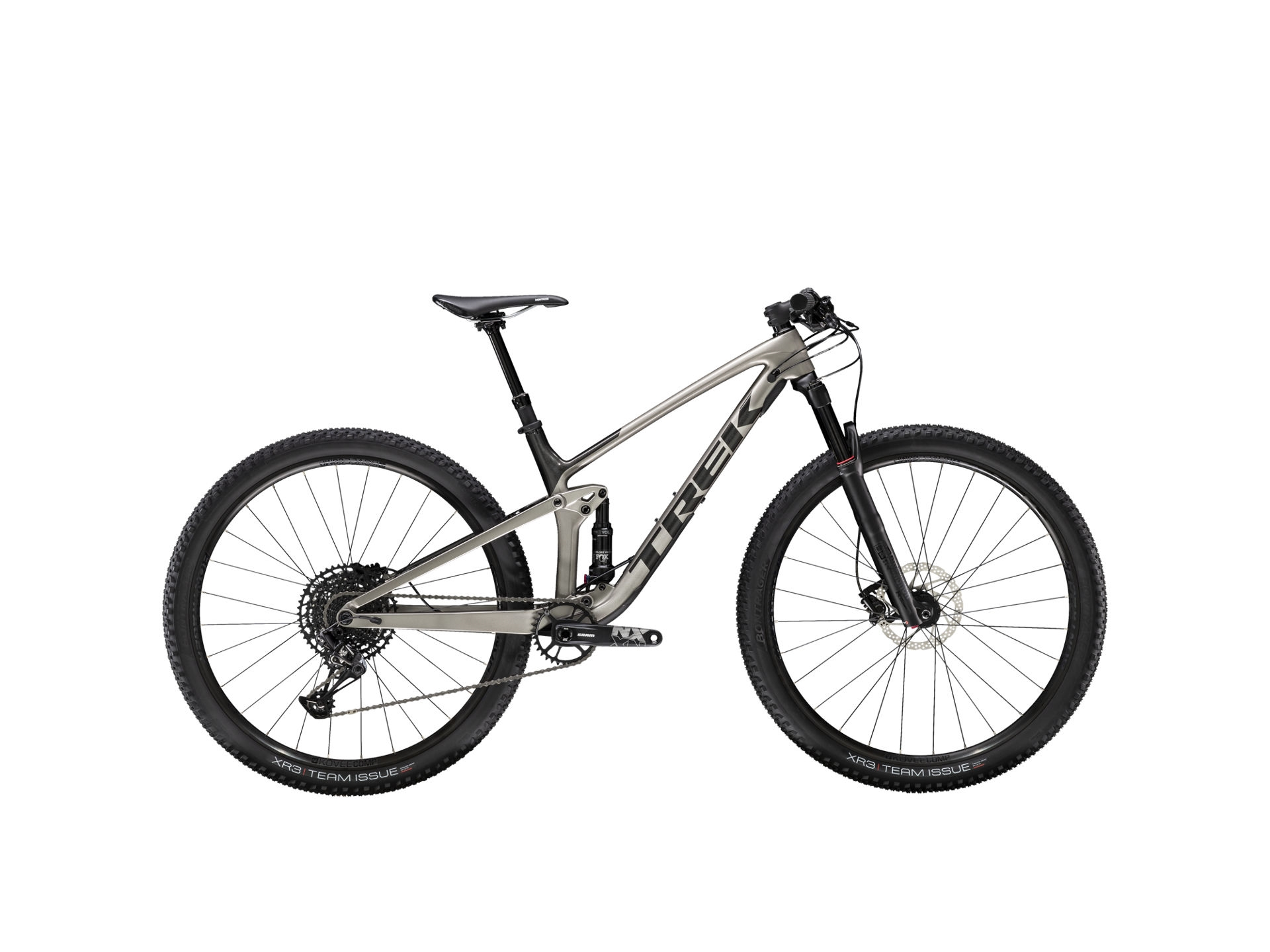 Trek Top Fuel 9.7 2020 Silver/Svart M