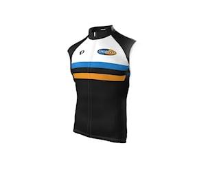 Pearl Izumi Cykloteket Elite Ltd Vindväst Svart/Orange/Vit/Blå L