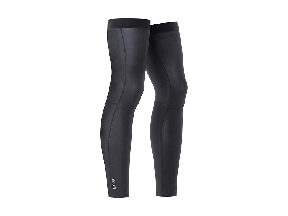 GORE LEG WARMERS BLACK M-L