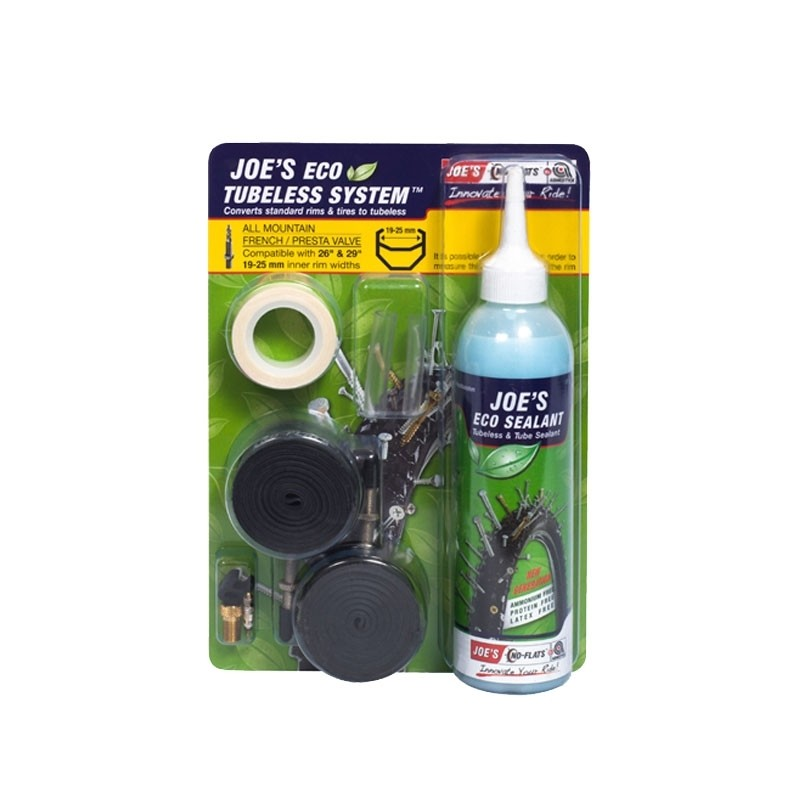 Joe´s Tubeless Ready Kit Eco Sealant Racerventil 21mm fälg