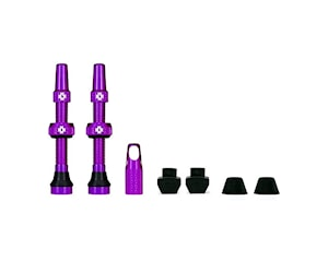 Muc-Off Tubeless Valve Kit 44 Mm Purple Road And Mtb Compatible