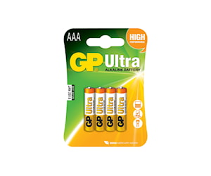 Gp Lr3/Aaa 4-Pack Batterier