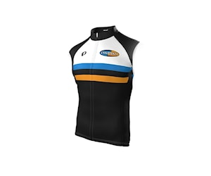 Pearl Izumi Cykloteket Elite Ltd Vindväst Svart/Orange/Vit/Blå Xxl